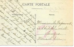 64-cachet Hôpital- Formation Sanitaire De Mauléon Sur CP D'Angers En 1918-cachet Un Peu Faible Mais Rare - Guerre De 1914-18