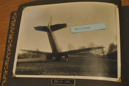 Photographie Avion Bloch 131 Accident Accidente Crash Photo Originale - Aviation