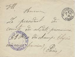 """1916- Enveloppe En F M De Neuchâteau ' HOPITAL D'EVACUATION N°12  """" - Marcophilie (Lettres)"""