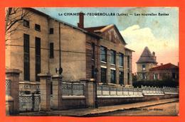 """CPA 42 Le Chambon Feugerolles """" Les Nouvelles écoles """" - Le Chambon Feugerolles"""