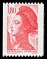 France N° 2223 ** Liberté De Gandon Le 1.80 Fr. Roulette Rouge - - France