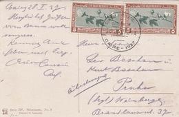 Egypte Carte Postale Le Caire Pour La Tchécoslovaquie 1927 - Storia Postale