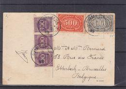 Allemagne - Empire - Carte Postale De 1923 - Oblit Pirmasens - Exp Vers Bruxelles - Vue Kaiserschule - Duitsland