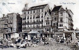 """CPA -   WENDUYNE  -  La Plage Et La Digue - Grand Hotel Pauwels -  Résidence """" Les Coquelicots""""  Patisserie - Wenduine"""