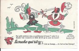 Buvard La Vache Qui Rit , Série Les Duels à Travers Les âges N°05/10 - Buvards, Protège-cahiers Illustrés