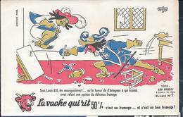 Buvard La Vache Qui Rit , Série Les Duels à Travers Les âges N°07/10 - Papel Secante