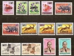 Congo 1964 OCBn° 532-544 *** MNH Cote 20 Euro Timbres Surchargés - Republic Of Congo (1960-64)