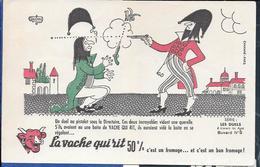 Buvard La Vache Qui Rit , Série Les Duels à Travers Les âges N°09/10 - Buvards, Protège-cahiers Illustrés