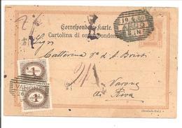 Österreich Ganzsache P118(UNGÜLTIG SEIT 1.4.1900) Nachporto 2x 1Kr S.Paar.Arco 19.4.00>Varone - Ganzsachen