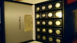 Coffret Collection Pantheon 20 Medailles Argent 800% 30 Mm 9.5 Gr - Autres