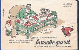 Buvard La Vache Qui Rit , Série Les Métiers  N°08/10 - Papel Secante