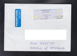 FRANCE, COVER, / REPUBLIC OF MACEDONIA ** - 2000 «Avions En Papier»