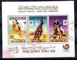 1988; LIBYE - Jeux Olympique  SEOUL, SW-No. 1822 - 1824 Minisheet, Oblitéré, Lot 52172 - Verano 1988: Seúl