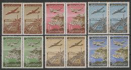 Yugoslavia 1947 Definitive - Airmail, In Pair, MNH (**) Michel 515-520 - 1945-1992 Socialist Federal Republic Of Yugoslavia