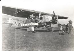 PHOTO AVION POTEZ  40 ? F-AKDY  SPCA 218-2 Probable (Carénages De Roues)     11X17CM - Aviation