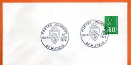 67 MUTZIG   153° RI  1976 Lettre Entière N° CD 48 - Marcophilie (Lettres)