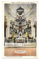 Tarjeta  Postal De Altar De San Francisco. - Postkaarten