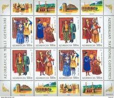 Azerbajan (Azerbaijan, Azerbaïdjan) 2004. National Costumes. Mi.# Klb.586-589. MNH - Azerbaïjan