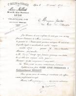 69 LYON COURRIER 1913 Grands Moulins De Perrache Louis MILLIAT  Quai Rambaud    - X78 Rhône Minoterie - 1900 – 1949