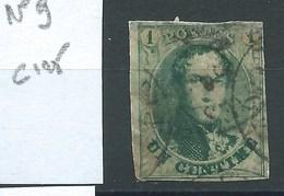 BELGIQUE - N° 9.  Cote 125 €. - 1858-1862 Medallions (9/12)