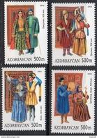 Azerbajan (Azerbaijan, Azerbaïdjan) 2004. National Costumes. Mi.# 586-589. MNH - Azerbaïjan
