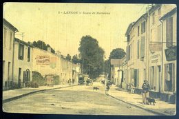 Cpa Du 33 Langon Route De Bordeaux      DEC19-05 - Langon