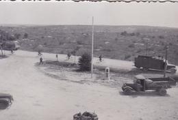 PHOTO ORIGINALE 39 / 45 WW2 WEHRMACHT FRANCE CHAMPAGNE UN CONVOI ALLEMAND - Guerra, Militares
