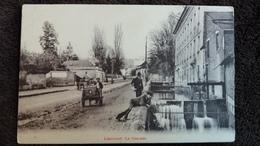 CPA LIANCOURT OISE LA CASCADE ANIMATION CHARRETTE 1916 - Liancourt