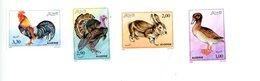 Algérie 1980-Lapin,canard,dindon,coq-YT 986/9**MNH - Ferme