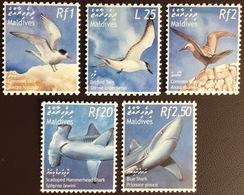 Maldives 2002 Marine Life Whales Sharks Birds MNH - Stamps