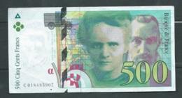 500 Francs Pierre Et Marie Curie 1994   N° C018495907  6 2 SCANS  LAURA 4601 - 1992-2000 Laatste Reeks