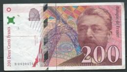 """200 Francs """"Eiffel"""" 1996  N° B042047617-  2 SCANS  LAURA 4602 - 1992-2000 Dernière Gamme"""