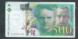 500 Francs Pierre Et Marie Curie 1994 N° G002131409 - 2 Scans -  LAURA 4605 - 1992-2000 Laatste Reeks