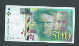 500 Francs Pierre Et Marie Curie 1994 N° Q024416542  2 Scans -  LAURA 4607 - 1992-2000 Laatste Reeks