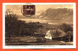 """CPA 74 Environs D'annecy """" Le Lac Et Le Mont Veyrier """" - Annecy"""