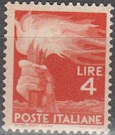 """PIA - ITALIA - 1945-48 : Serie """"Democratica""""   - (Yv  554) - 1946-60: Nuovi"""