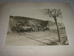 FOTOGRAFIA 1901 GENOVA ALLARGAMENTO DELLA STRADA SUL MONTE FIGOGNA - Mestieri