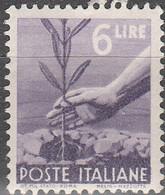 """PIA - ITALIA - 1945-48 : Serie """"Democratica""""   - (Yv  551) - 1946-60: Nuovi"""