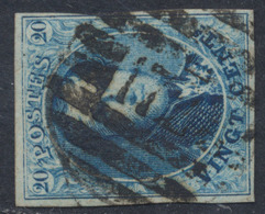 "Médaillon - N°11 Margé Obl P172 (8 Barres) ""Trooz"" - 1858-1862 Médaillons (9/12)"