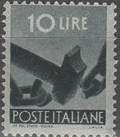 """PIA - ITALIA - 1945-48 : Serie """"Democratica""""   - (Yv  558) - 1946-60: Nuovi"""