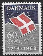 Danemark 1969 N° 492 Neuf** 750 Ans Du Drapeau - Danimarca