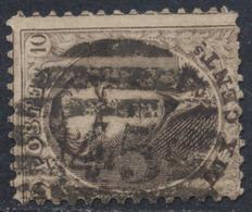 "Médaillon Dentelé - N°14 Obl P45 (8 Barres) ""Gand"" - 1863-1864 Médaillons (13/16)"