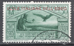 Egeo 1930 Sass.A4 O/Used VF/F - Egée