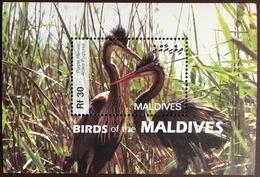 Maldives 2007 Migratory Birds Heron Minisheet MNH - Vögel