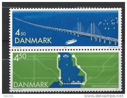 Danemark 2000 Série Neuve N° 1256/1257 En Paire Verticale Liaison Du Sund - Danimarca