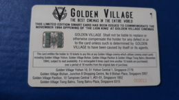 SMART MOVIE CARD - LION KING - DISNEY- Golden Village- CINECARTE - Singapour