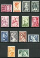 Greece SG764/77 1957 Royal Family Colour Change Fine M/M - Greece
