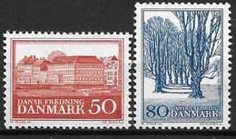 Danemark 1966 N° 449/450 Neufs** Monuments Et Sites Naturels - Danimarca