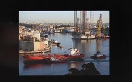 MALTA VALLETTA Cargo Ship Boat At Harbour Port Bateau Remorqueur Maritime Vessel Ship Schiff - Malta