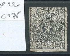 BELGIQUE - N° 22.  Cote 175 €. - 1866-1867 Petit Lion (Kleiner Löwe)